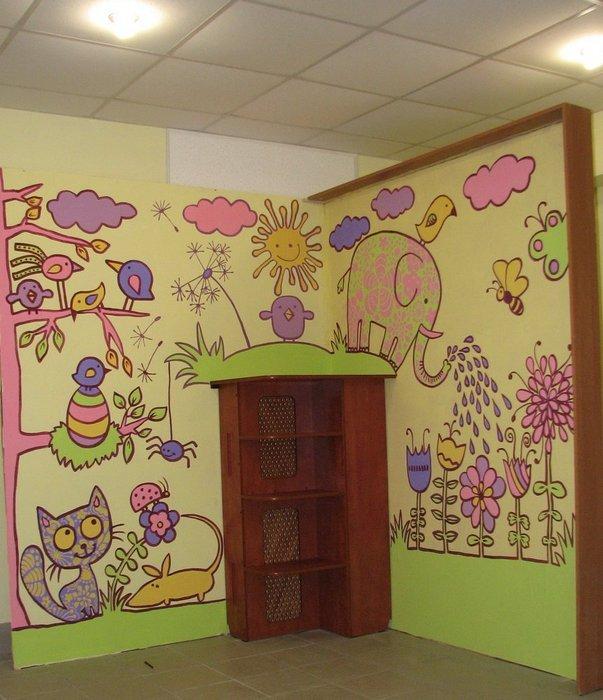Роспись стен своими руками детская