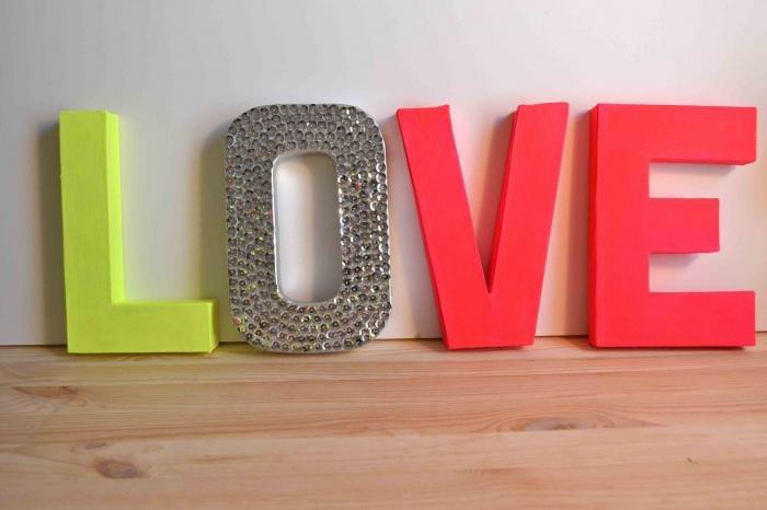 Сделать объемные буквы