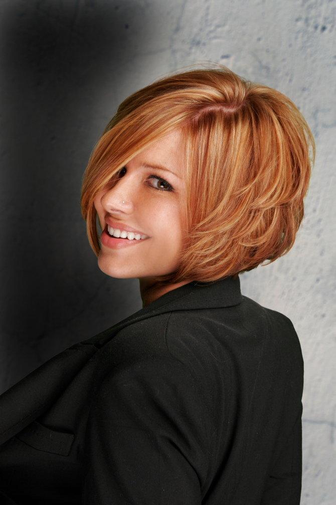 Прическа боб на густые волосы фото