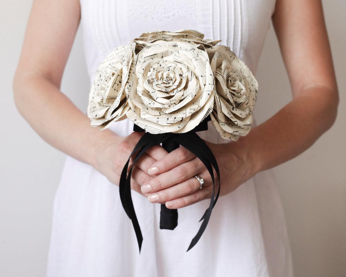 Винтажный букет невесты своими руками 60