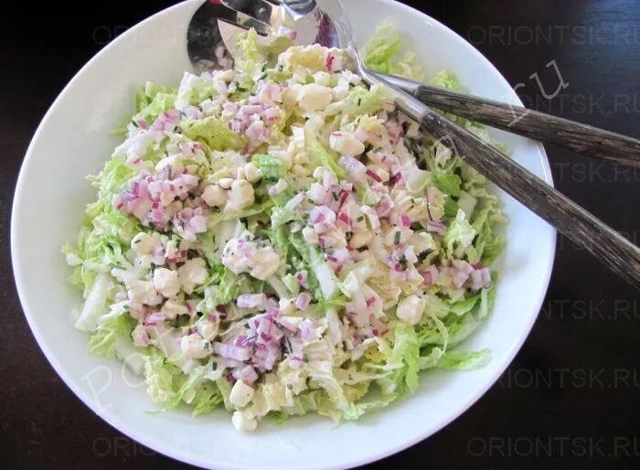 Салат из пекинской капусты и кукурузы рецепты с простые и вкусные