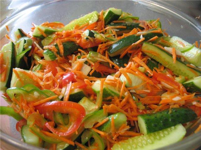Корейский салат из свежих огурцовы с фото