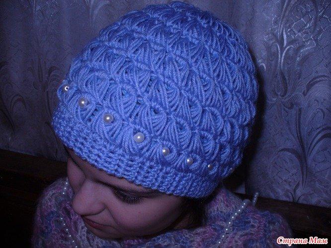 Вязание крючком шапочки для женщин видео