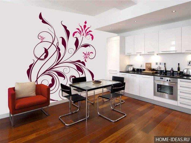 Рисунки на стенах кухни своими руками фото 76