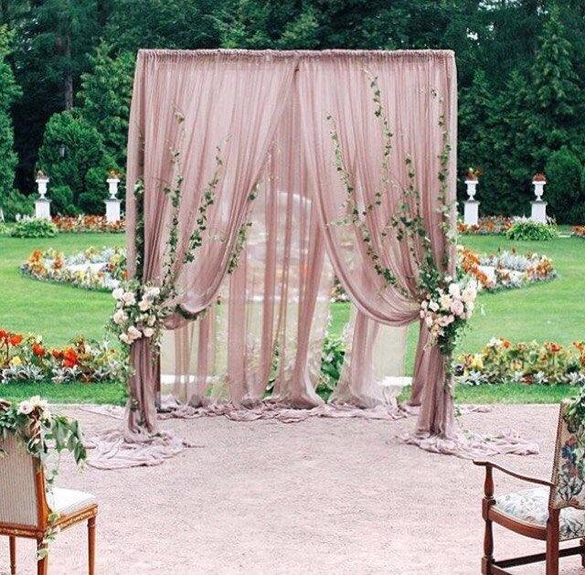 Четырехугольная свадебная арка своими руками 17