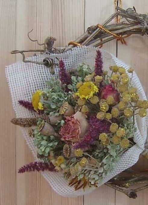 Как своими руками сделать композицию из сухих цветов 87