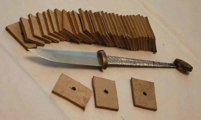 Рукоятка для ножа из кожи своими руками 45