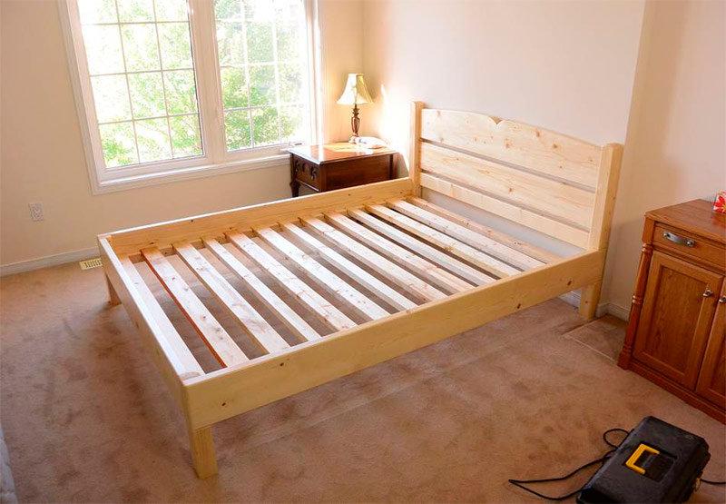 Простейшая кровать из дерева своими руками 100