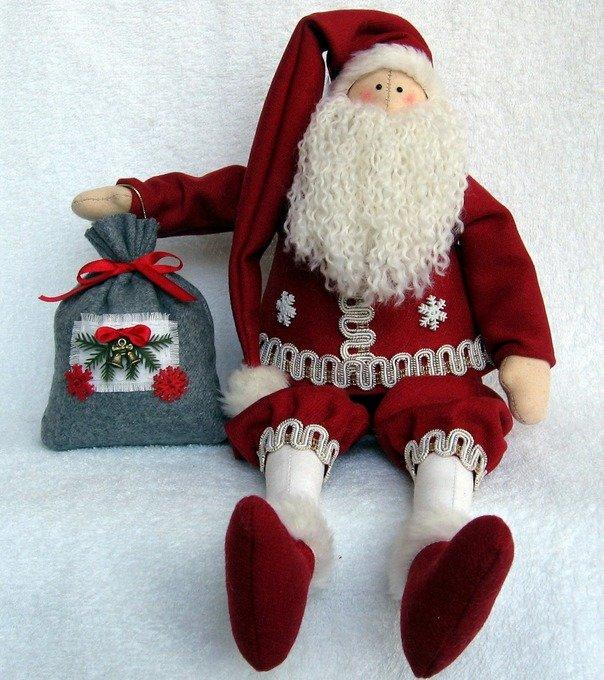 Дед мороз текстиль своими руками 646