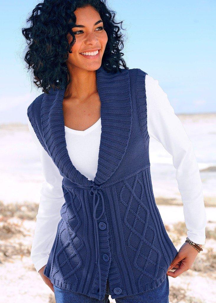 Вязание спицами для женщин самое интересное жилеты 2
