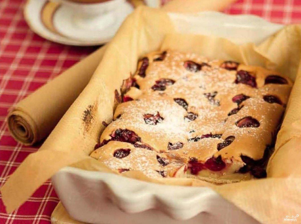 Пирог с вишней в духовке рецепты