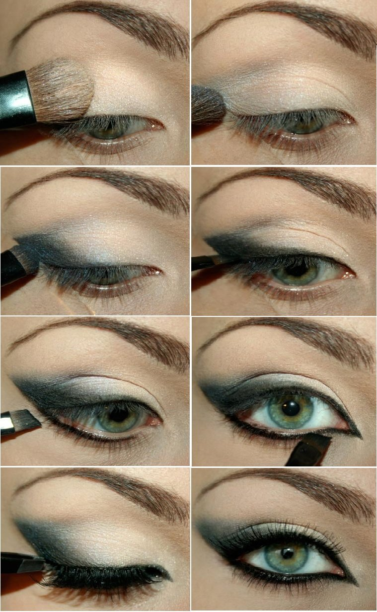 Вечерний макияж для глаз пошаговые фото