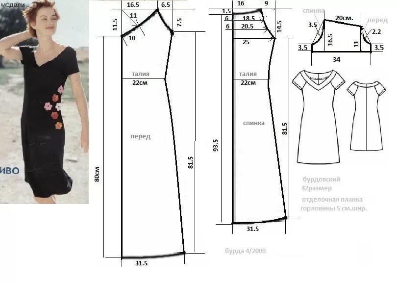 Легкое летнее платье для начинающих выкройки 130