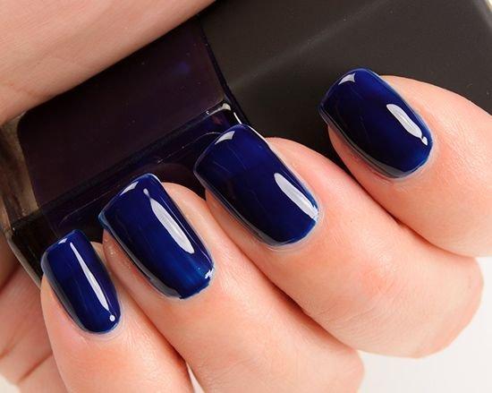 Ногти гель лак темно синие