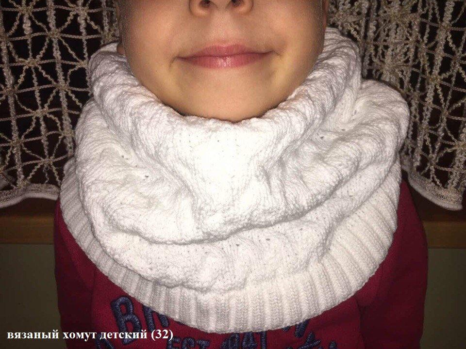 Детский шарф хомут фото