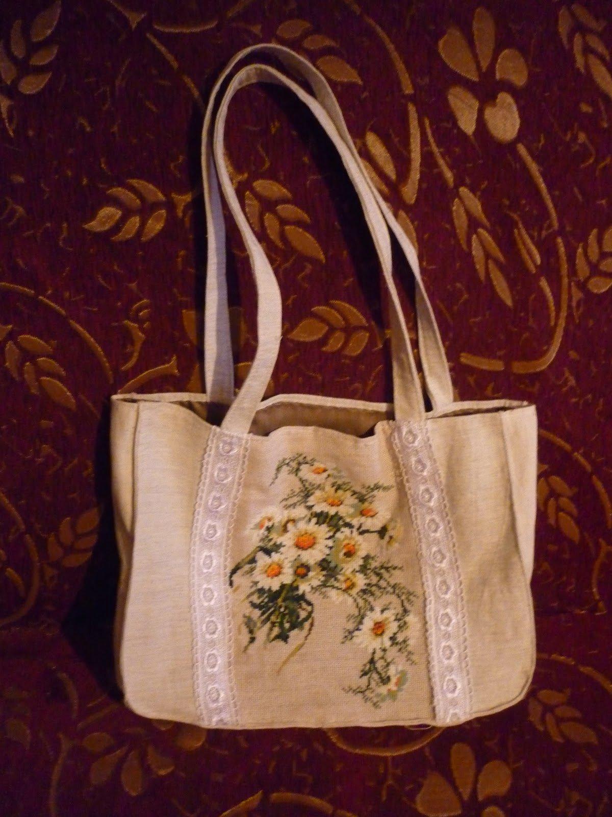 Вышивание сумки своими руками