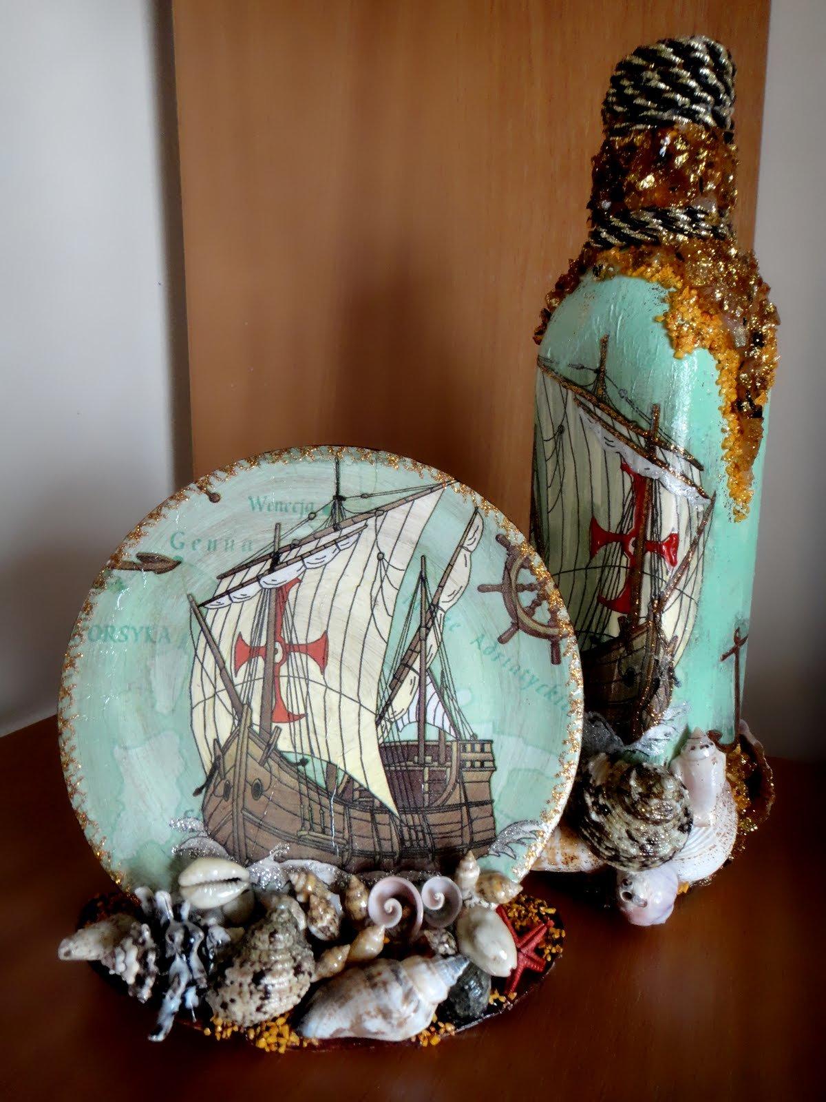 Объемный декупаж морская тематика