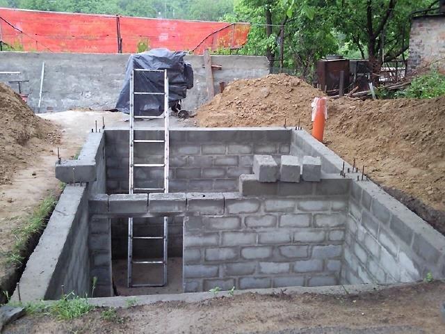 Подвал в построенном доме своими руками 180