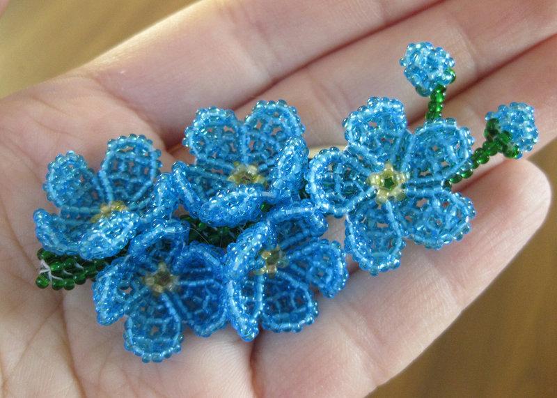 Брошь из бисера цветок мастер класс с пошаговым для начинающих