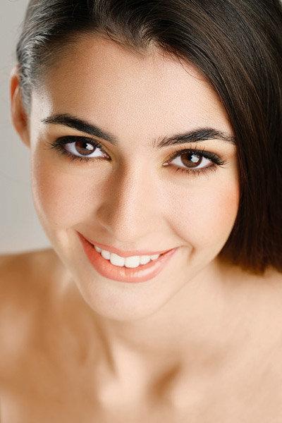 Фото дневной макияж для брюнетки