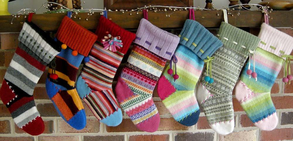 Носки для подарков связать 83