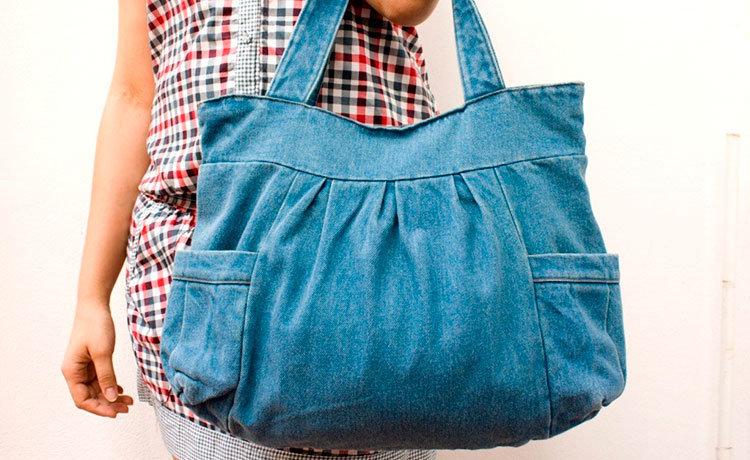 Как сшить стильную сумку из старых джинсов 40