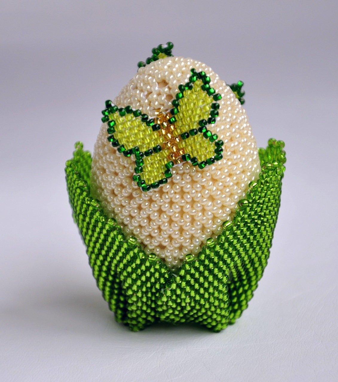 Схема пасхального яйца из бисера фото