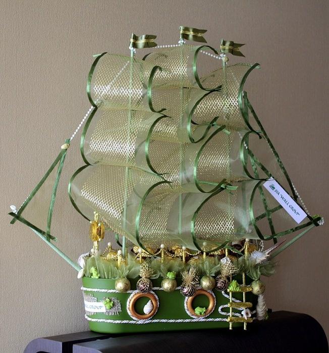 Кораблик подарок своими руками 37