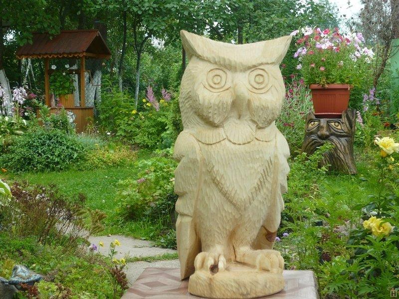 Деревянные скульптуры для сада своими руками