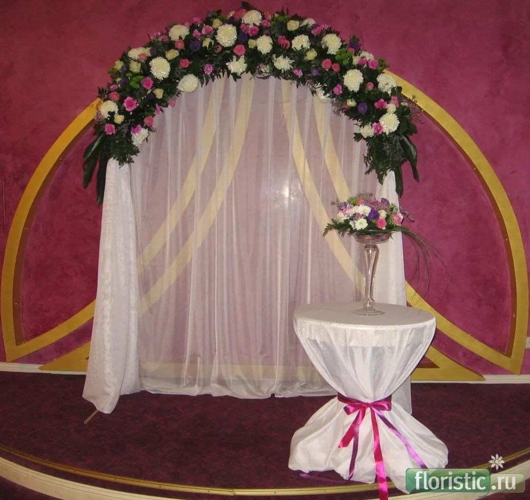 Как украсить свадебную арку своими руками фото