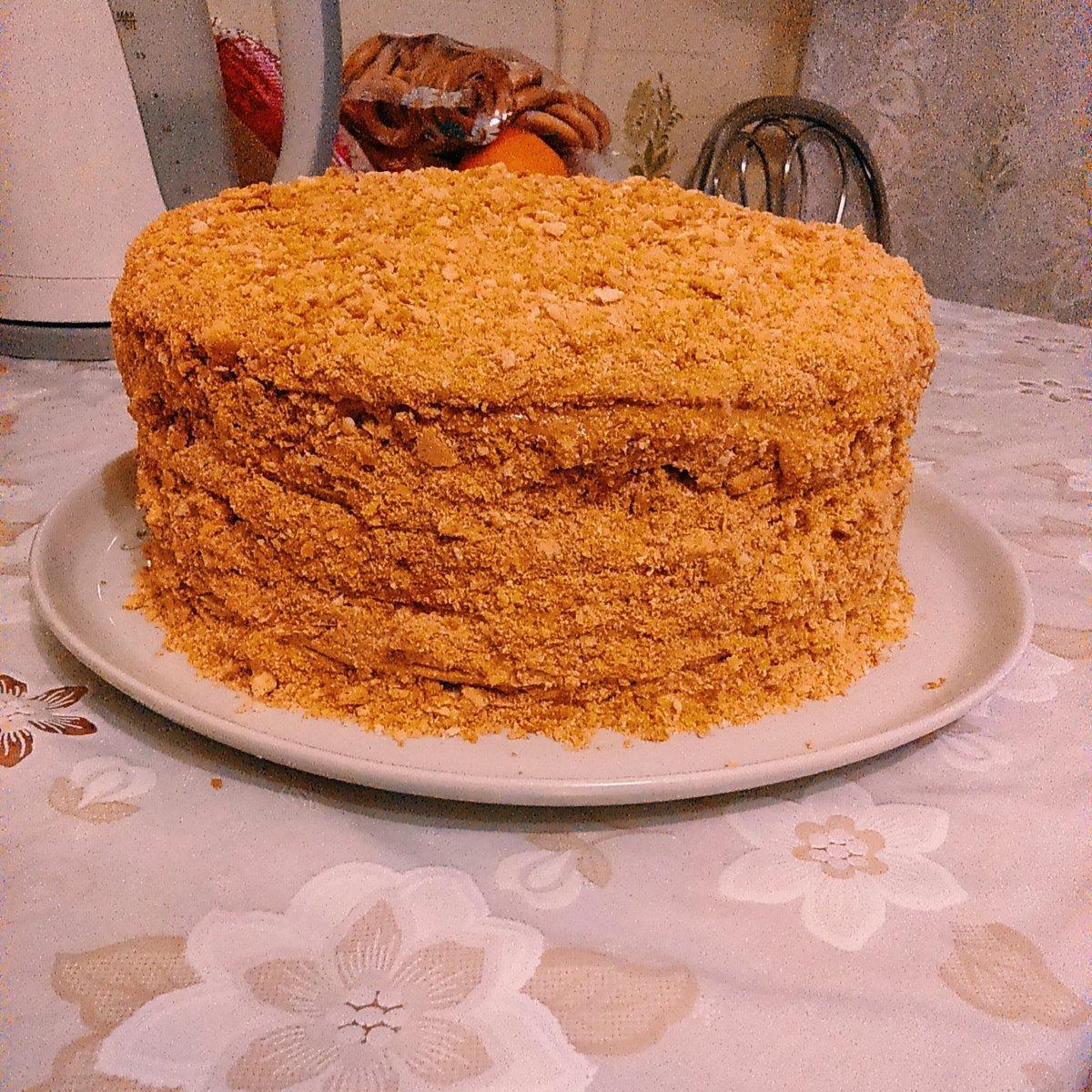 Медовый торт рецепт с вареной сгущенкой пошаговый рецепт