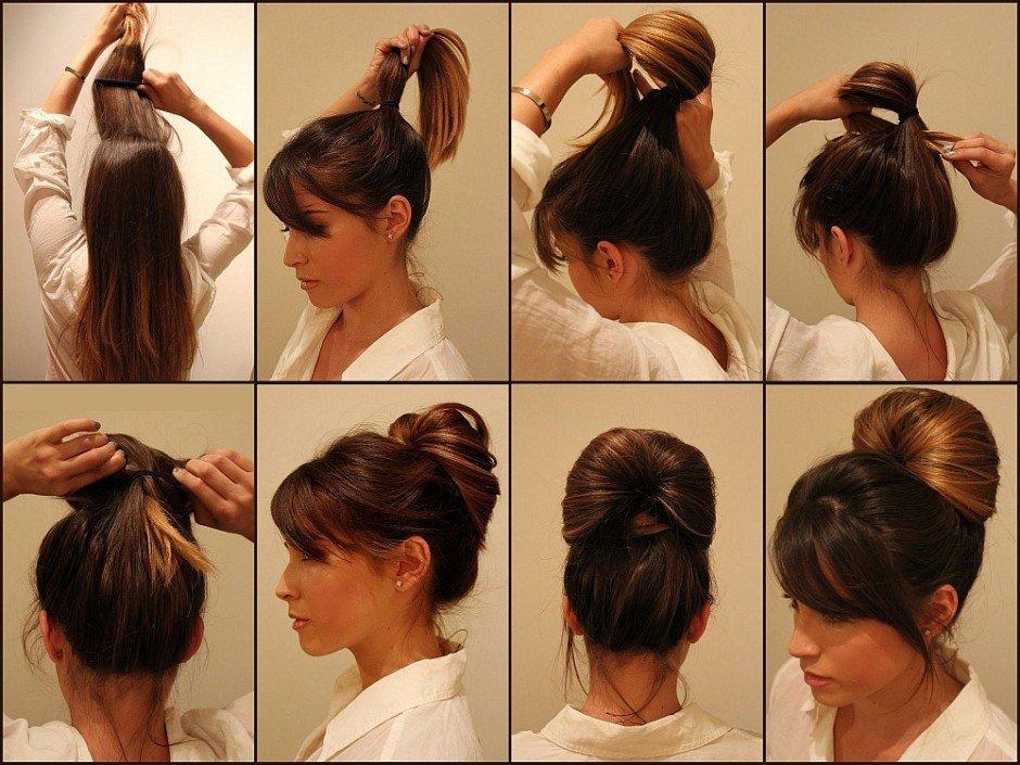 Прическа на длинные волосы быстро легко
