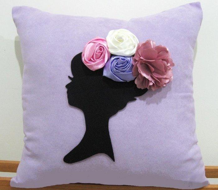 Цветы из ткани для подушек своими руками фото 2