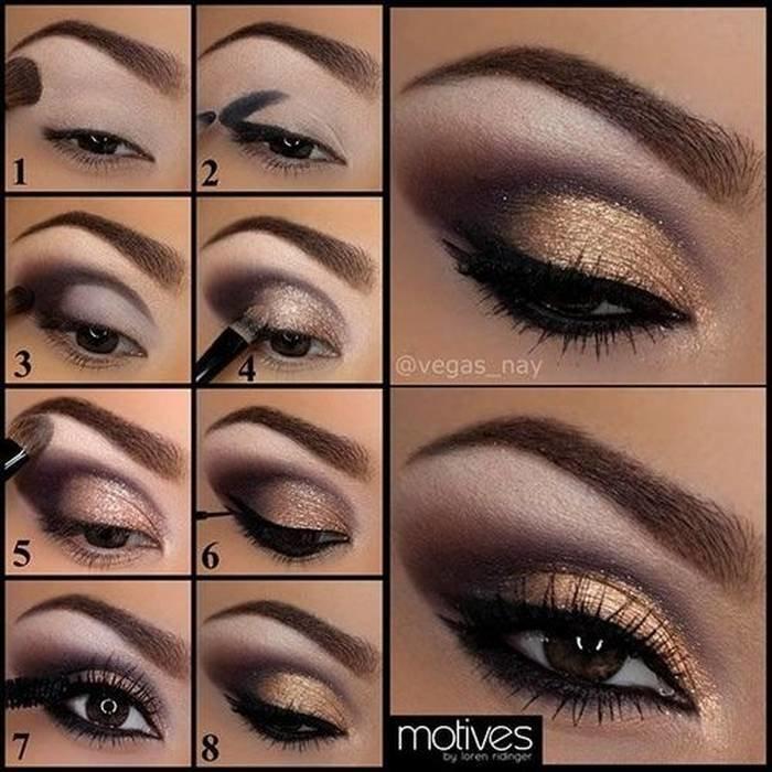 Макияж для карих глаз пошагово фото глаз