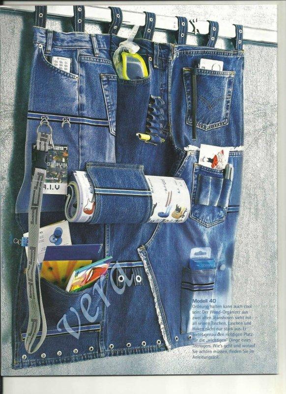 Что можно сшить из старых джинсов своими руками 8