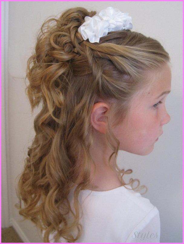 Причёски на длинные волосы девочкам на торжество