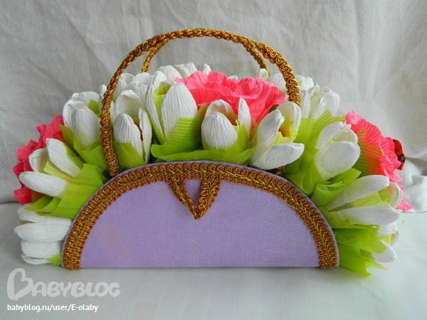 специальные подарки из конфет на 8 марта своими руками вязание крючком