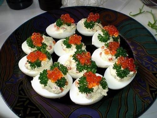 Фаршированные яйца рецепт на праздничный стол рецепты