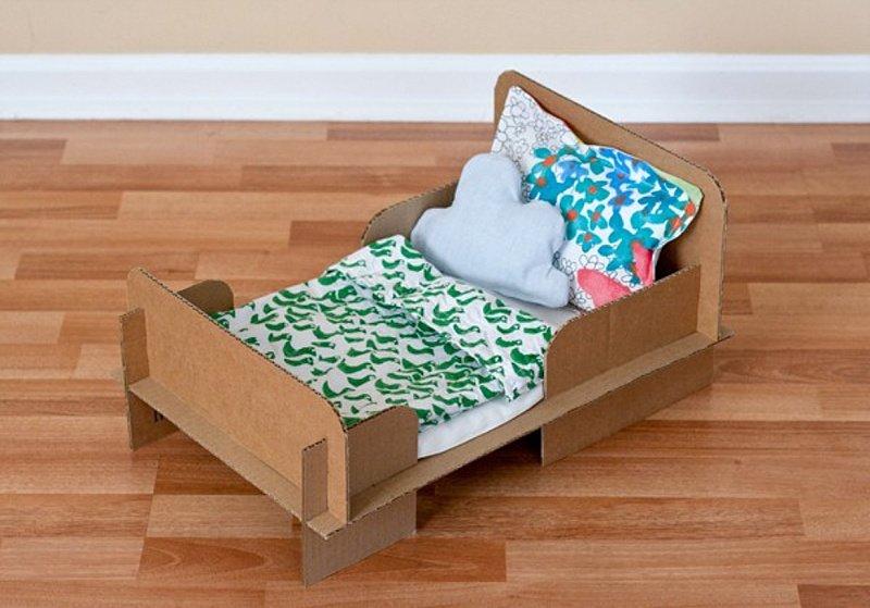 Кроватка для пупсика своими руками из картона