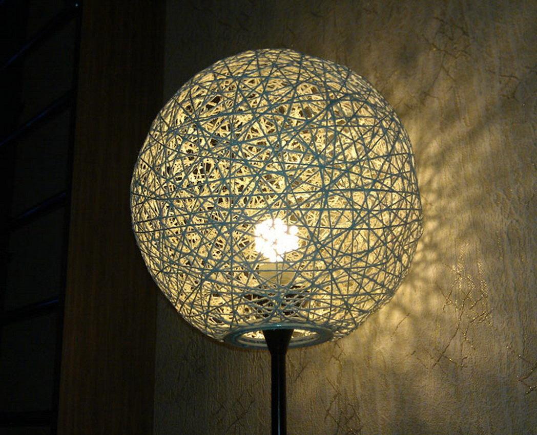 Плафон на настольную лампу своими руками 45