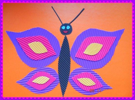 Поделки из цветной гофрированной бумаги для детей 95