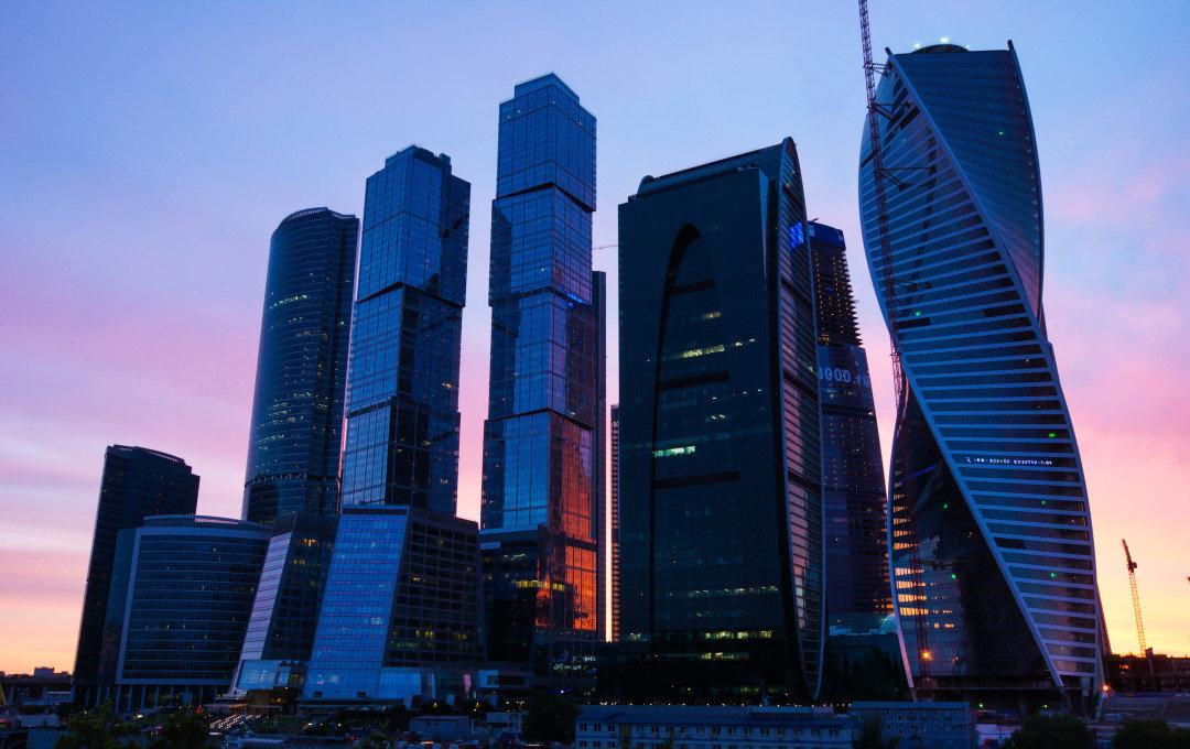 Москва сити ночь архитектура россия Башня на Набережной Город Столиц  № 3716279 загрузить