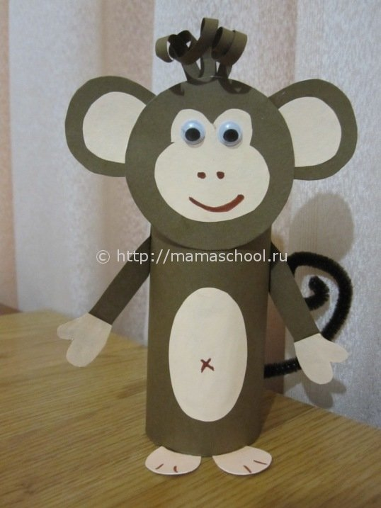 Поделки с детьми обезьянка своими руками