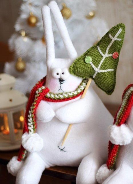 Новогодний заяц своими руками