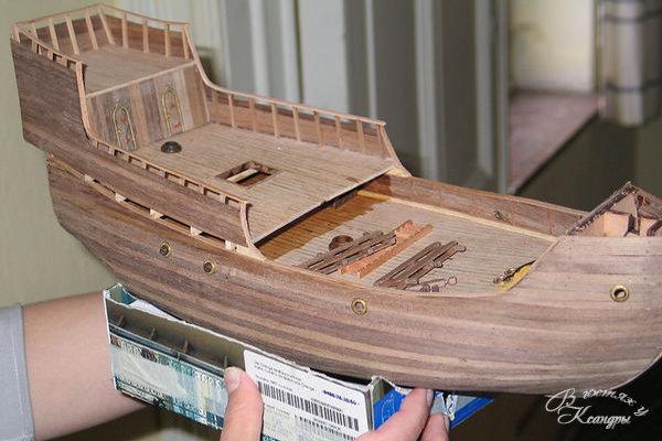 Как сделать модель корабль из дерева в домашних условиях