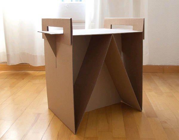 Тумбочка из коробки своими руками 97