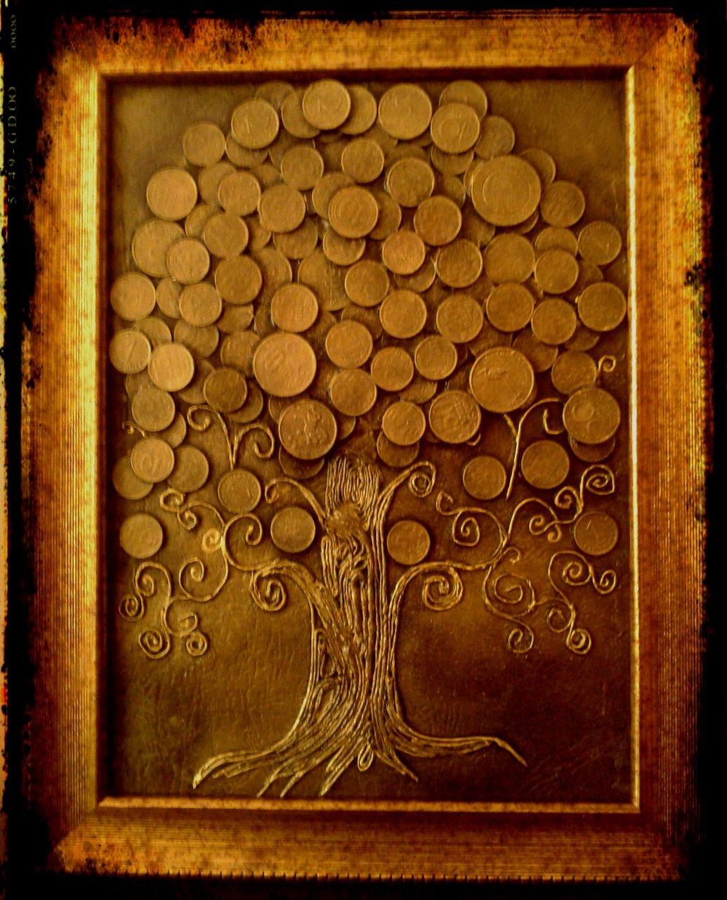 Как сделать панно денежного дерева 605