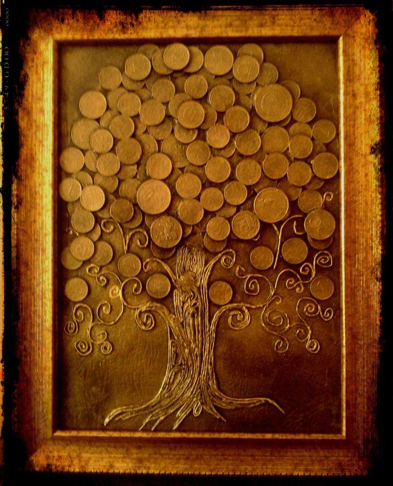 Денежное дерево с монетами своими руками