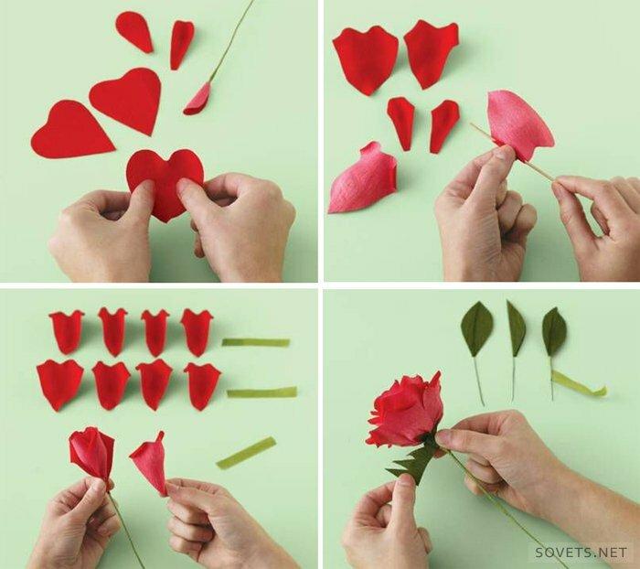 Розы из бумаги дети своими руками
