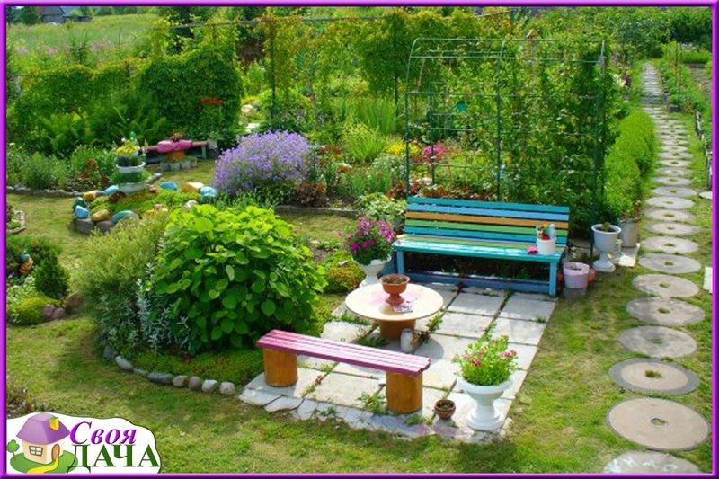 Как оформить красиво сад своими руками